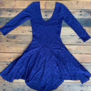 Free People purple lace dress XS